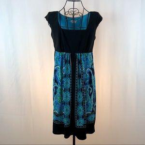 London Times empire waist sleeveless knit dress 6